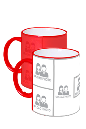 Awesome Upload Photo Red Magic Mug