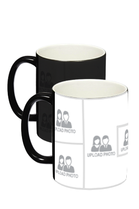 Upload Photo Black Magic Mug