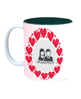 Designer Heartful Inside Green Mug