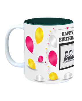 Celebration Inside Green Mug