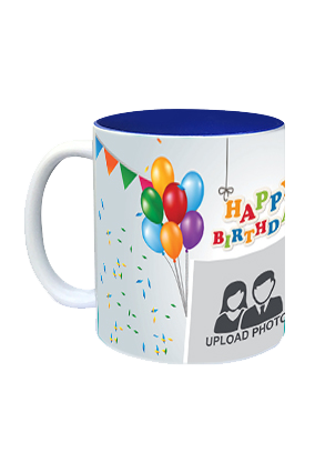 Happy Birthday Inside Blue Mug