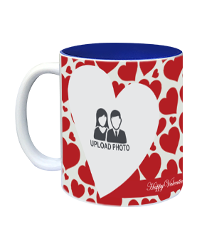 Heartful Inside Blue Mug