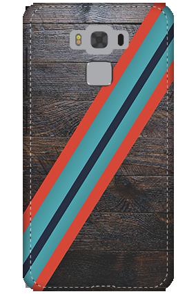 3D - Asus Zenfone 3 Max ZC553KL Leatherette Look Mobile Cover