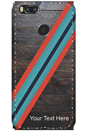 3D - Xiaomi Mi A1 Leatherette Look Mobile Cover