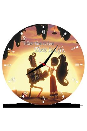 Beautiful Girl Round MDF Clock