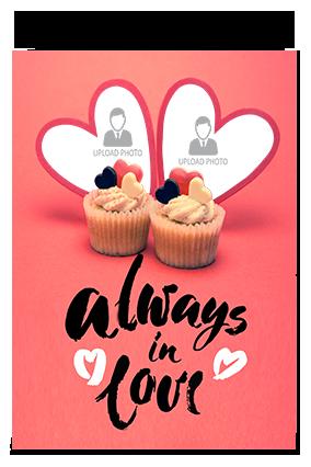 Always In Love Valentine Greeting Card