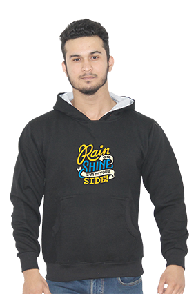 I Am On Your Side Full Sleeves Black Hoodie