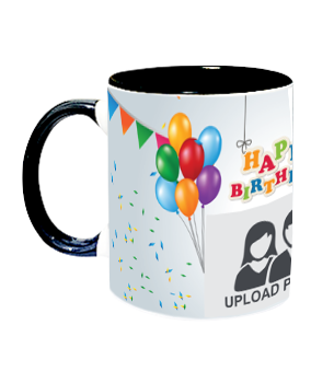 Designer Birthday Inside Black Mug With Black Handle