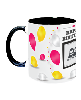 Trending Celebration Inside Black Mug With Black Handle