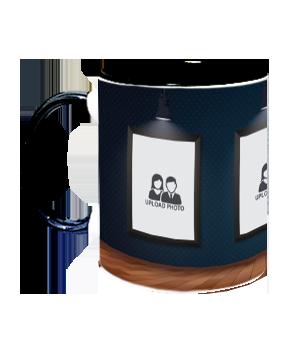 Lights Inside Black Mug With Black Handle
