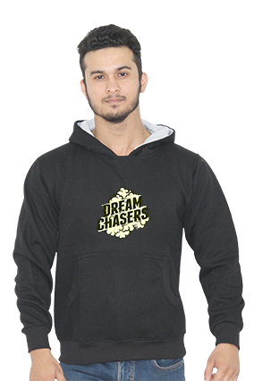 Dream Chasers Full Sleeves Black Hoodie