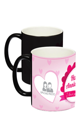 Anniversary Greetings Black Magic Mug