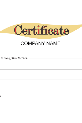 Custom Certificate of Appreciation