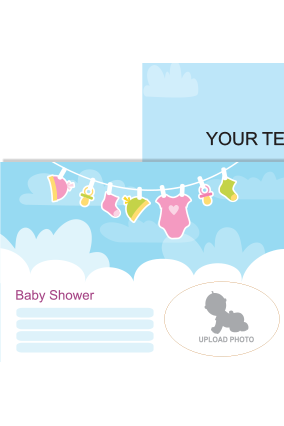 Little Baby Shower Invitation Card