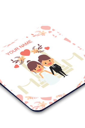 Just Married Square Coaster