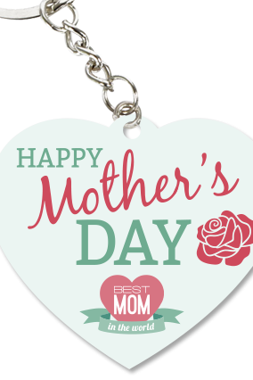 Happy Mother's Day Heart Key Chain