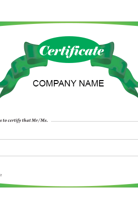 Promotional Achievement Certificate