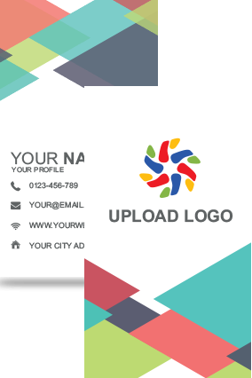 Multi Color Vertical Business Card