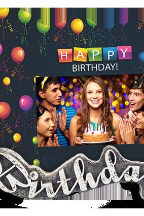 Party Rockstar Birthday Photo Frame