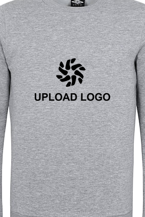 Umbro - Upload Logo Gray Sweatshirt