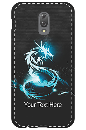 3D - Infinix Hot 4  Shining Blue Snake Mobile Cover