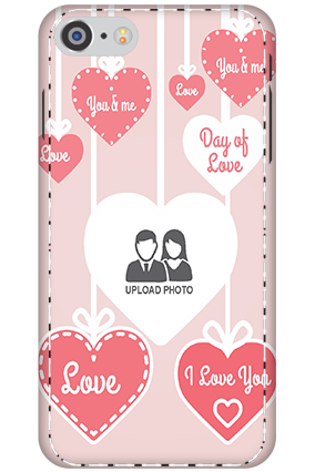 Personalised 3D-Apple iPhone 8 Love Dove Anniversary Mobile Cover