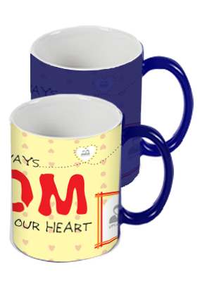 Personalized In Our Heart Blue Magic Mug