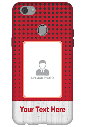 Customize 3D-Oppo F7 Polka Dots Mobile Cover