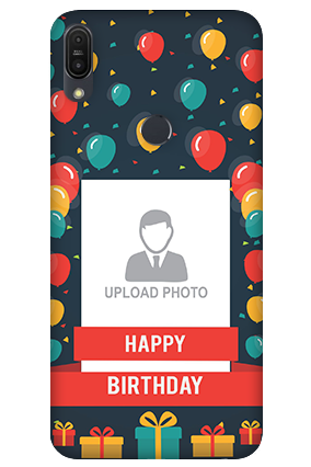 3D-Asus ZenFone Max Pro M1 Balloons Birthday Mobile Cover