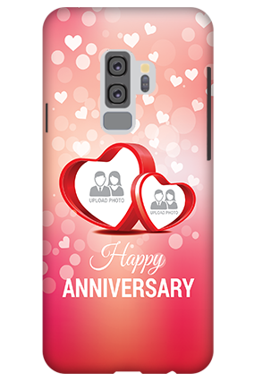 Designer 3D-Samsung Galaxy S9 Plus Floral Hearts Anniversary Mobile Cover