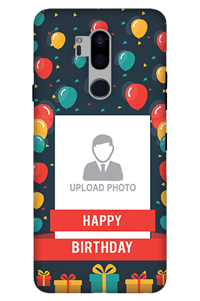 3D-LG G7 Plus ThinQ Balloons Birthday Mobile Cover