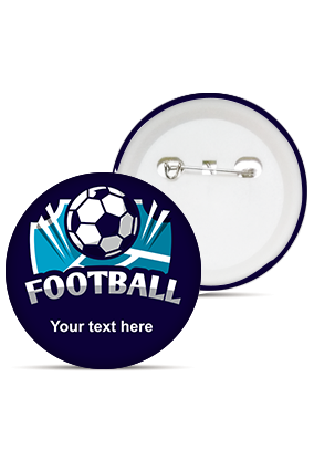 Football Love Round Shape Badges