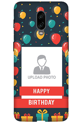 3D - Oneplus 6T Balloons Birthday Mobile Cover