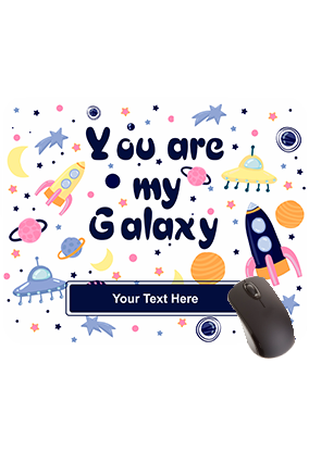 Designer You Are My Galaxy Rectangular Mouse Pad