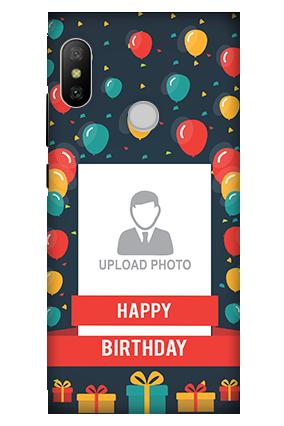 3D - Xiaomi Redmi 6 Pro Balloons Birthday Mobile Cover