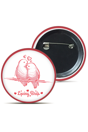 Loving Birds Round Badge