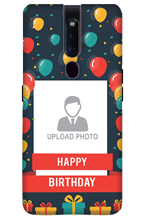 3D-OPPO F11 Pro Balloons Birthday Mobile Covers