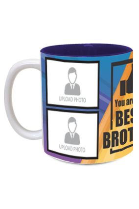 The Best Brother Personalized Exclusive Inside Blue Mug
