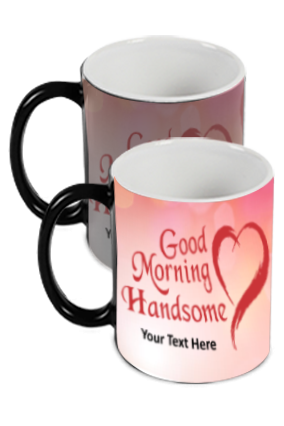 Good Morning Handsome Printed Black Magic Mug