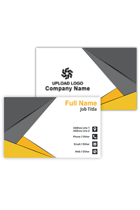 Black and Yellow Personalized Real Estate Business Visiting Card