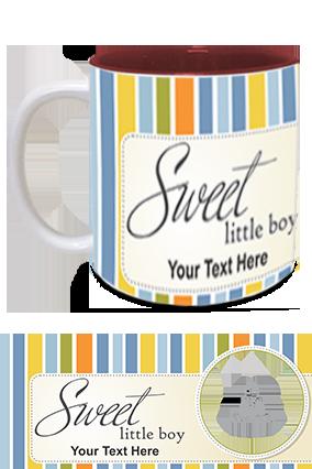 Sweet Little Boy Customized Kids Designer Inside Maroon Mug