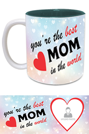 The Best MoM in The World Trendy Inside Green Mug
