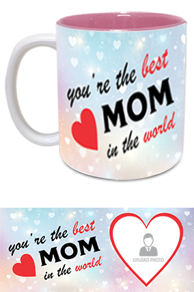 The Best MoM in The World Trendy Inside Pink Mug
