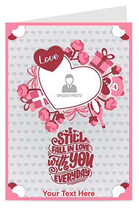 Still Fall in Love Valentine's Day Greeting Card