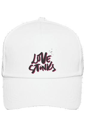 Love Stinks Customised Cotton White Cap