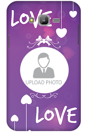 3D-Samsung Galaxy J7 Love in Voilet Personalized Mobile Cover