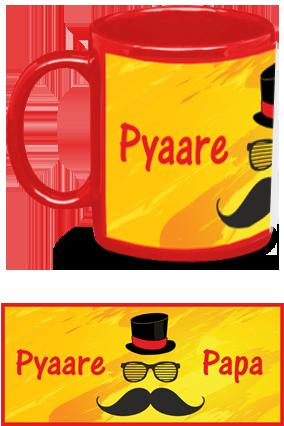 Pyaare Papa Red Patch Mug