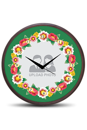 Flowers Wooden Wall Clock