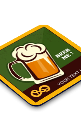 Beer Square Customised Coaster Printing