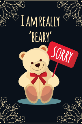 Sorry cards make sorry greeting card online india printland beary sorry cord beary sorry cord m4hsunfo